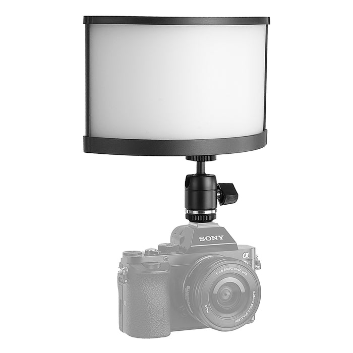 Fotodiox Pro FACTOR Radius Mini Wide Angle Light - 4x9 in Curved Bicolor Dimmable Camera Light