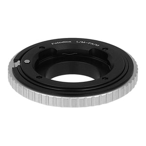 Fotodiox Lens Mount Macro Adapter - Leica M Rangefinder Lens to Fujifilm Fuji X-Series Mirrorless Camera Body with Variable Close Focus