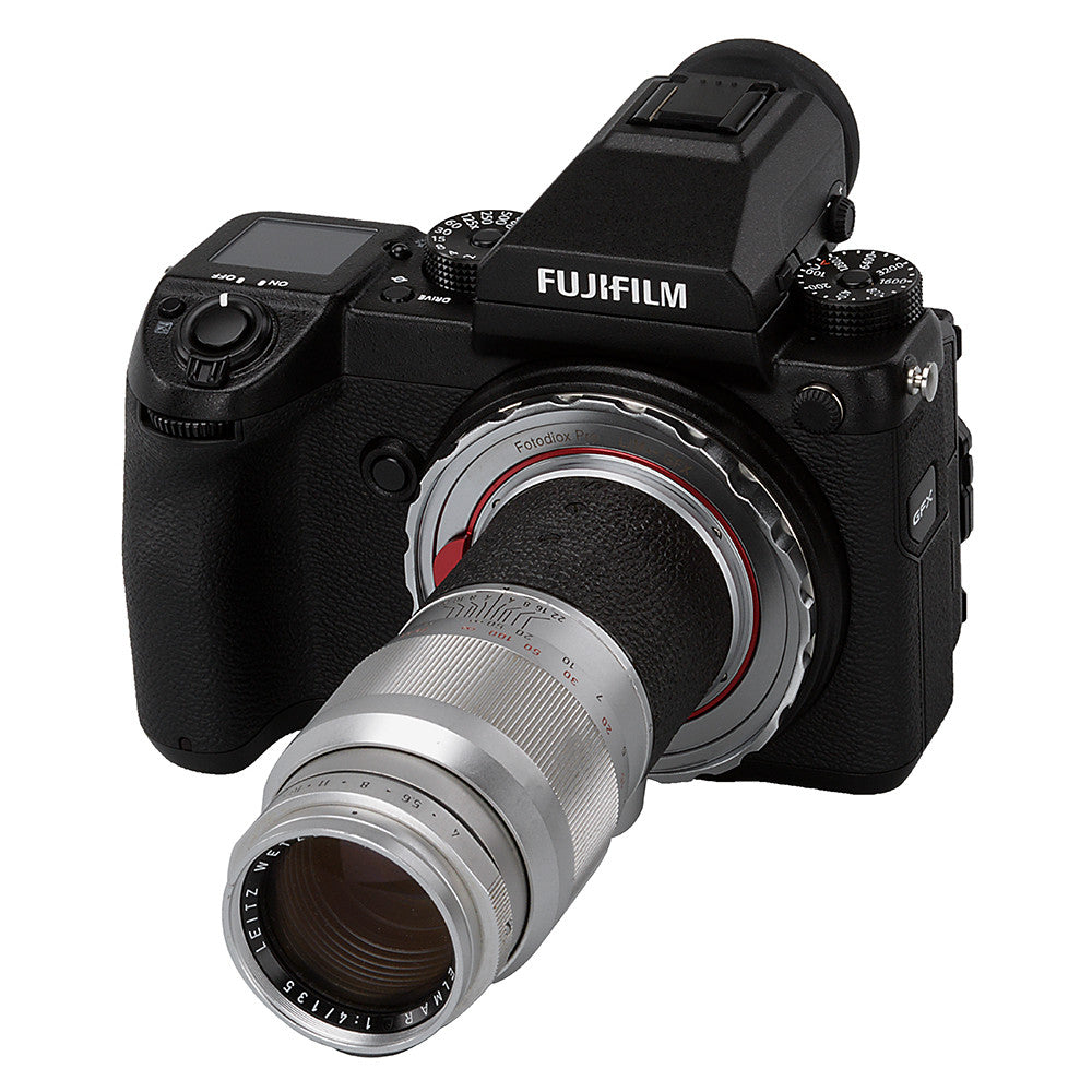 Fotodiox Pro Lens Mount Adapter, Leica M Rangefinder Lens to Fujifilm  G-Mount GFX Mirrorless Digital Camera Systems (such as GFX 50S and more)