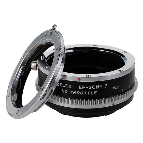 Vizelex ND Throttle Lens Mount Adapter - Leica R SLR Lens to Sony Alpha E-Mount Mirrorless Camera Body with Built-In Variable ND Filter (1 to 8 Stops)