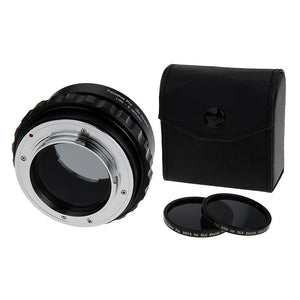 Fotodiox DLX Stretch Lens Mount Adapter - Leica R SLR Lens to Sony Alpha E-Mount Mirrorless Camera Body with Macro Focusing Helicoid and Magnetic Drop-In Filters