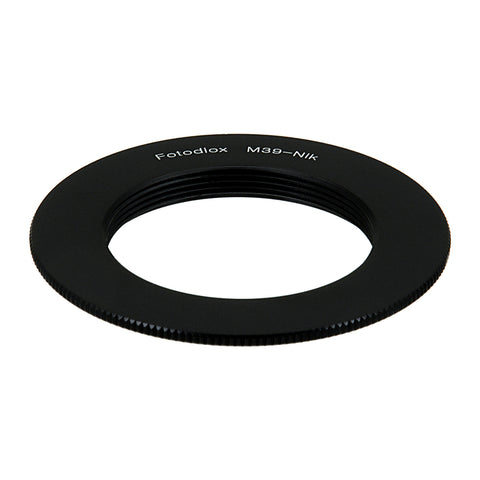 Fotodiox Lens Mount Adapter - M39/L39 (x1mm Pitch) Screw Mount Russian & Leica Thread Mount Lens to Nikon F Mount SLR Camera Body