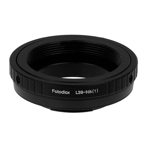 Fotodiox Lens Mount Adapter - M39/L39 (x1mm Pitch) Screw Mount Russian & Leica Thread Mount Lens to Nikon 1-Series Mirrorless Camera Body