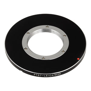 Fotodiox Pro Lens Mount Adapter - L39 Leica Visoflex Screw Mount Lens to to Pentax 6x7 (P67) Mount SLR Camera Body
