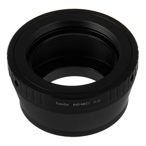 Fotodiox Lens Adapter - Compatible with M42 (Type 2) Screw Mount SLR Lenses to Nikon 1-Series Mirrorless Cameras
