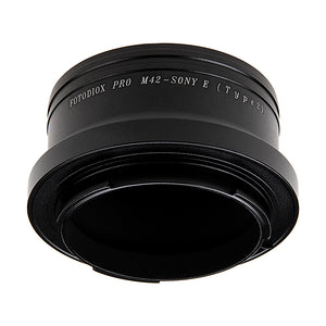 Fotodiox Pro Lens Mount Adapter - M42 Type 2 (42mm x1 Screw Mount) to Sony Alpha E-Mount Mirrorless Camera Body