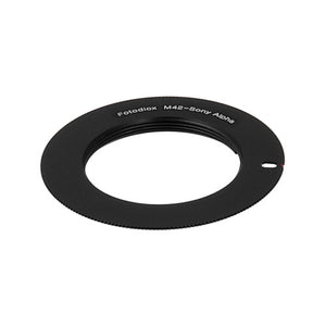 Fotodiox Lens Mount Adapter -  M42 Type 1 (42mm x1 Screw Mount) Lens to Sony Alpha A-Mount (and Minolta AF) Mount SLR Camera Body