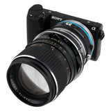 Fotodiox Pro Lens Mount Shift Adapter - Mamiya 645 (M645) Mount Lenses to Sony Alpha E-Mount Mirrorless Camera Body