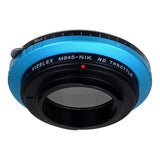 Vizelex ND Throttle Lens Mount Adapter - Mamiya 645 (M645) Mount Lenses to Nikon F Mount SLR Camera Body with Built-In Variable ND Filter (1 to 8 Stops)