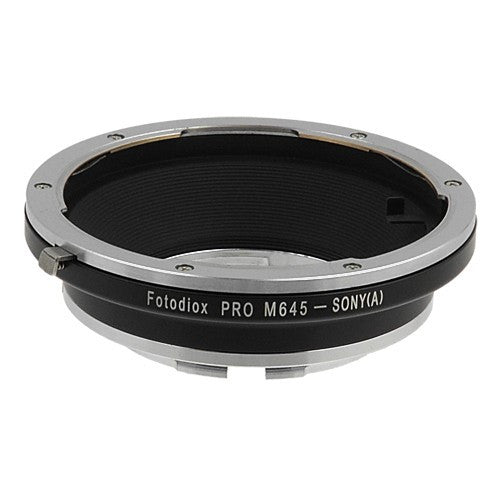 Fotodiox Pro Lens Mount Adapter - Mamiya 645 (M645) Mount Lenses to Sony Alpha A-Mount (and Minolta AF) Mount SLR Camera Body