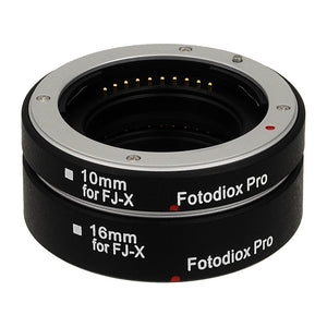 Fotodiox Pro Automatic Macro Extension Tube Set for Fujifilm X-Series Mirrorless Cameras for Extreme Close-up Photography