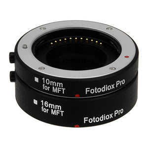 Fotodiox Pro Automatic Macro Extension Tube Set for Micro Four Thirds (MFT, M4/3) Mount Mirrorless Cameras for Extreme Close-up Photography