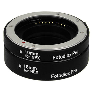 Fotodiox Pro Automatic Macro Extension Tube Set for Sony Alpha E-Mount Mirrorless Cameras for Extreme Close-up Photography