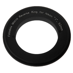 Macro Reverse Ring for Nikon - Camera Mount to Filter Thread Adapter for Nikon 1-Series Camera Mounts