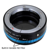 Vizelex ND Throttle Lens Mount Adapter - Minolta Rokkor (SR / MD / MC) SLR Lens to Micro Four Thirds (MFT, M4/3) Mount Mirrorless Camera Body, with Built-In Variable ND Filter (1 to 8 Stops)