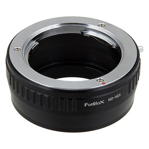 Fotodiox Lens Mount Adapter - Minolta Rokkor (SR / MD / MC) SLR Lens to Sony Alpha E-Mount Mirrorless Camera Body