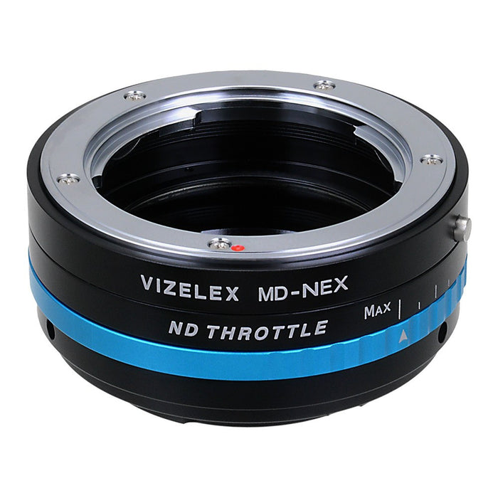 Vizelex ND Throttle Lens Mount Adapter - Minolta Rokkor (SR / MD / MC) SLR Lens to Sony Alpha E-Mount Mirrorless Camera Body with Built-In Variable ND Filter (1 to 8 Stops)