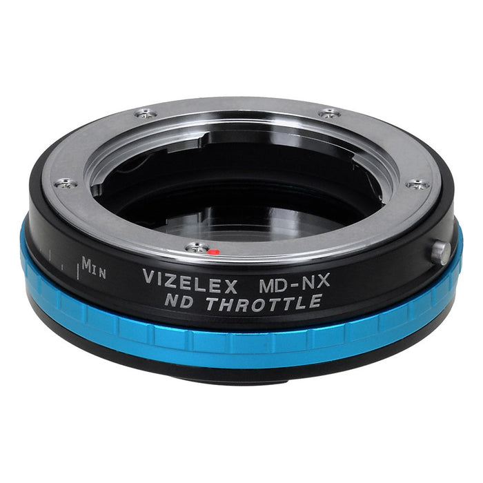 Vizelex ND Throttle Lens Mount Adapter - Minolta Rokkor (SR / MD / MC) SLR Lens to Samsung NX Mount Mirrorless Camera Body with Built-In Variable ND Filter (1 to 8 Stops)