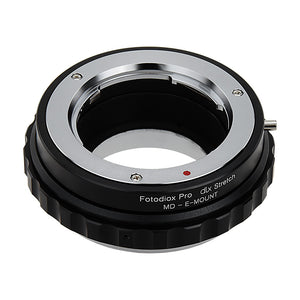 Fotodiox DLX Stretch Lens Mount Adapter - Minolta Rokkor (SR / MD / MC) SLR Lens to Sony Alpha E-Mount Mirrorless Camera Body with Macro Focusing Helicoid and Magnetic Drop-In Filters
