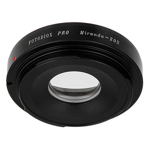 Fotodiox Pro Lens Mount Adapter Compatible with Miranda (MIR) SLR Lens to Canon EOS (EF, EF-S) Mount SLR Camera Body - with Generation v10 Focus Confirmation Chip