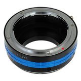 Fotodiox Pro Lens Mount Adapter - Mamiya 35mm (ZE) SLR Lens to Micro Four Thirds (MFT, M4/3) Mount Mirrorless Camera Body, with Built-In Aperture Control Dial