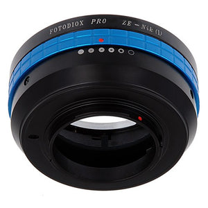 Fotodiox Pro Lens Mount Adapter - Mamiya 35mm (ZE) SLR Lens to Nikon 1-Series Mirrorless Camera Body, with Built-In Aperture Control Dial