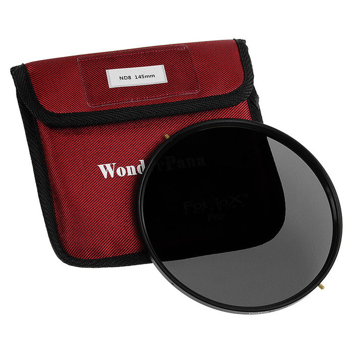 Fotodiox Pro 145mm Neutral Density 8 (3-Stop) Filter - Coated ND8 Filter (works with WonderPana 145 & 66 Systems)