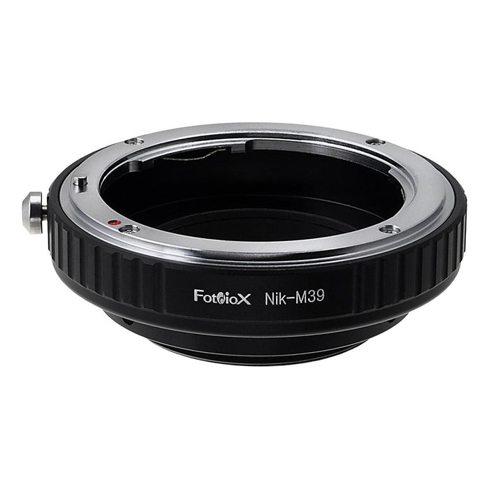 Fotodiox Lens Adapter - Compatible with Nikon F Mount D/SLR Lenses to M39 Screw Mount System Cameras