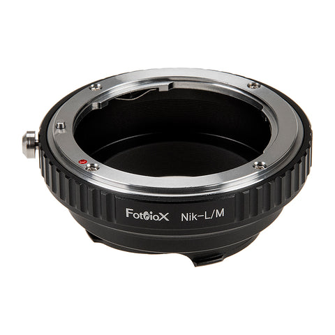 Fotodiox Lens Mount Adapter - Nikon Nikkor F Mount D/SLR Lens to Leica M Mount Rangefinder Camera Body