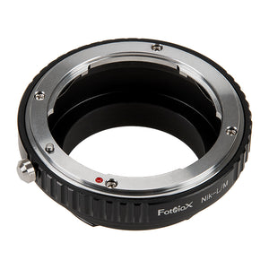 Fotodiox Lens Adapter - Compatible with Nikon F Mount D/SLR Lenses to Leica M Mount Rangefinder Cameras