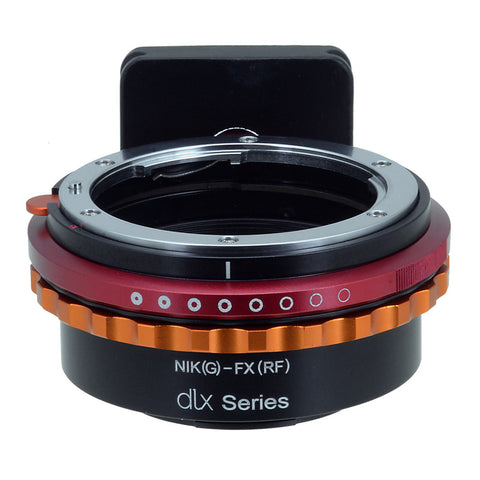 Fotodiox DLX Lens Mount Adapter - Nikon Nikkor F Mount G-Type D/SLR Lens to Fujifilm X-Series Mirrorless Camera Body, with Long-Throw De-Clicked Aperture Control