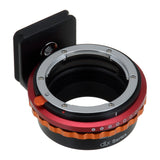 Fotodiox DLX Lens Mount Adapter - Nikon Nikkor F Mount G-Type D/SLR Lens to Fujifilm Fuji X-Series Mirrorless Camera Body, with Long-Throw De-Clicked Aperture Control