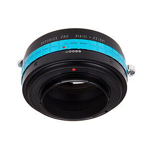Fotodiox Pro Lens Mount Adapter - Nikon Nikkor F Mount G-Type D/SLR Lens to Fujifilm Fuji X-Series Mirrorless Camera Body, with Built-In Aperture Control Dial