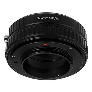 Fotodiox Lens Mount Macro Adapter - Nikon Nikkor F Mount G-Type D/SLR Lens to Micro Four Thirds (MFT, M4/3) Mount Mirrorless Camera Body, for Variable Close Focus with Built-In Aperture Control Dial