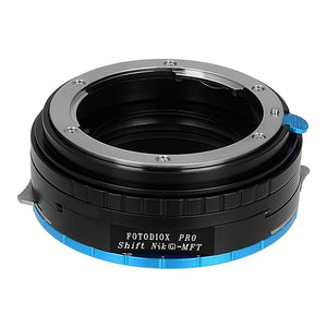 Nikon G SLR Lens to MFT (Micro-4/3, M4/3) Mount Camera Body Shift Adapter, with Aperture Control Dial
