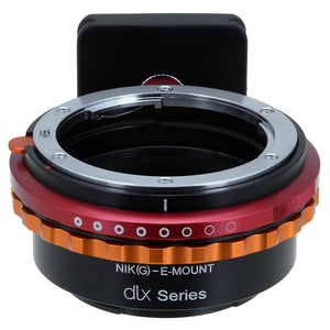 Fotodiox DLX Lens Mount Adapter - Nikon Nikkor F Mount G-Type D/SLR Lens to Sony Alpha E-Mount Mirrorless Camera Body (Ver.1)