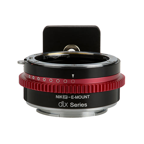 Fotodiox DLX Lens Mount Adapter - Nikon Nikkor F Mount G-Type D/SLR Lens to Sony Alpha E-Mount Mirrorless Camera Body