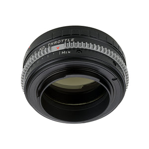 Vizelex Cine ND Throttle Lens Mount Adapter - Nikon Nikkor F Mount G-Type D/SLR Lens to Sony Alpha E-Mount Mirrorless Camera Body with Built-In Variable ND Filter (1 to 8 Stops)