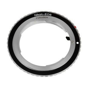 Fotodiox Lens Mount Adapter Compatible with Nikon Nikkor F Mount D/SLR Lens to Canon EOS (EF, EF-S) Mount SLR Camera Body - with Generation v10 Focus Confirmation Chip