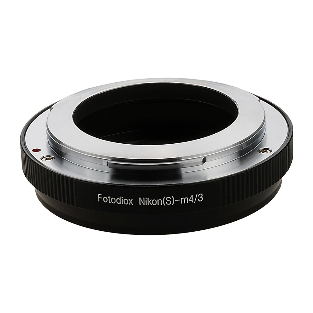 Fotodiox Lens Mount Adapter - Nikon Nikkor S Rangefinder Lens to Micro Four Thirds (MFT, M4/3) Mount Mirrorless Camera Body