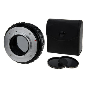 Fotodiox DLX Stretch Lens Mount Adapter - Nikon Nikkor F Mount G-Type D/SLR Lens to Micro Four Thirds (MFT, M4/3) Mount Mirrorless Camera Body with Macro Focusing Helicoid and Magnetic Drop-In Filters