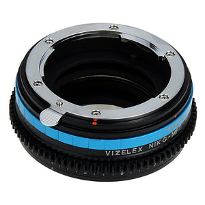 Vizelex Polar Throttle Lens Mount Adapter - Nikon Nikkor F Mount G-Type D/SLR Lens to Micro Four Thirds (MFT, M4/3) Mount Mirrorless Camera Body with Built-In Circular Polarizing Filter