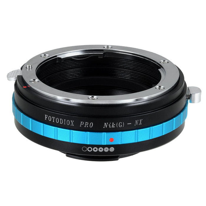 Fotodiox Pro Lens Adapter - Compatible with Nikon F Mount G-Type D/SLR Lenses to Samsung NX Mount Mirrorless Cameras