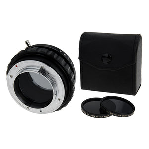 Fotodiox DLX Stretch Lens Mount Adapter - Nikon Nikkor F Mount G-Type D/SLR Lens to Sony Alpha E-Mount Mirrorless Camera Body with Macro Focusing Helicoid and Magnetic Drop-In Filters