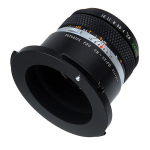 Fotodiox Pro Lens Mount Adapter - Olympus Zuiko (OM) 35mm SLR Lens to Sony CineAlta FZ-Mount Camera Bodies