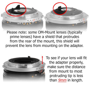 Fotodiox Pro Lens Mount Adapter - Olympus Zuiko (OM) 35mm SLR Lens to Pentax K (PK) Mount SLR Camera Body