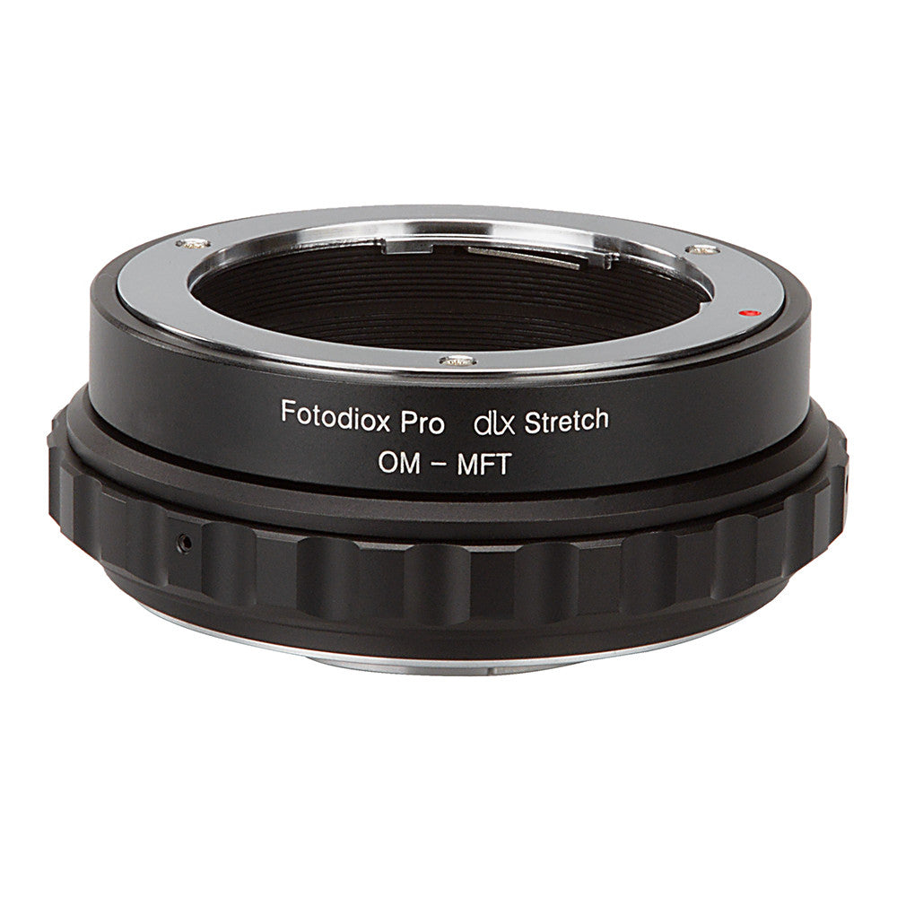 Fotodiox DLX Stretch Lens Mount Adapter - Olympus Zuiko (OM) 35mm SLR Lens to Micro Four Thirds (MFT, M4/3) Mount Mirrorless Camera Body with Macro Focusing Helicoid and Magnetic Drop-In Filters