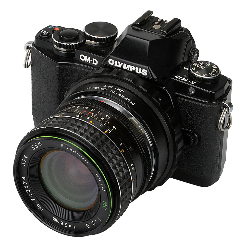 Fotodiox DLX Stretch Lens Mount Adapter - Olympus Zuiko (OM) 35mm SLR Lens  to Micro Four Thirds (MFT, M4/3) Mount Mirrorless Camera Body with Macro