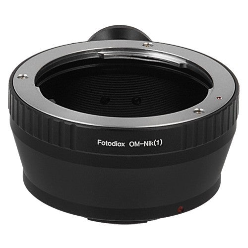 Fotodiox Lens Mount Adapter - Olympus Zuiko (OM) 35mm SLR Lens to Nikon 1-Series Mirrorless Camera Body