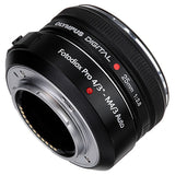 Fotodiox Pro Lens Mount Auto Adapter - Olympus Digital Zuiko OM 4/3 (OM4/3) Lens to Micro Four Thirds (MFT, M4/3) Mount Mirrorless Camera Body